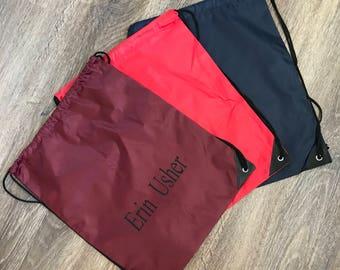 Personalised pe drawstring bags