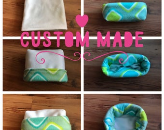 DYO Custom 2 in 1 Snuggle Sack/Cuddle Cup for Hedgehogs, Rats, Guinea Pigs, Ferrets etc. With Safe Seams and is 100% Reversible Customizable