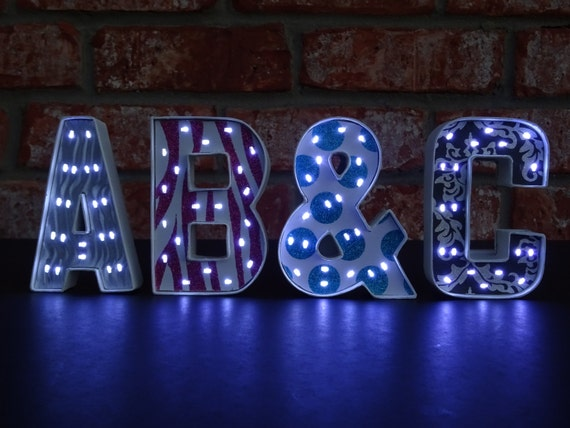 Mini Marquee Letters Unique Lighted Letters 4 Inch Paper