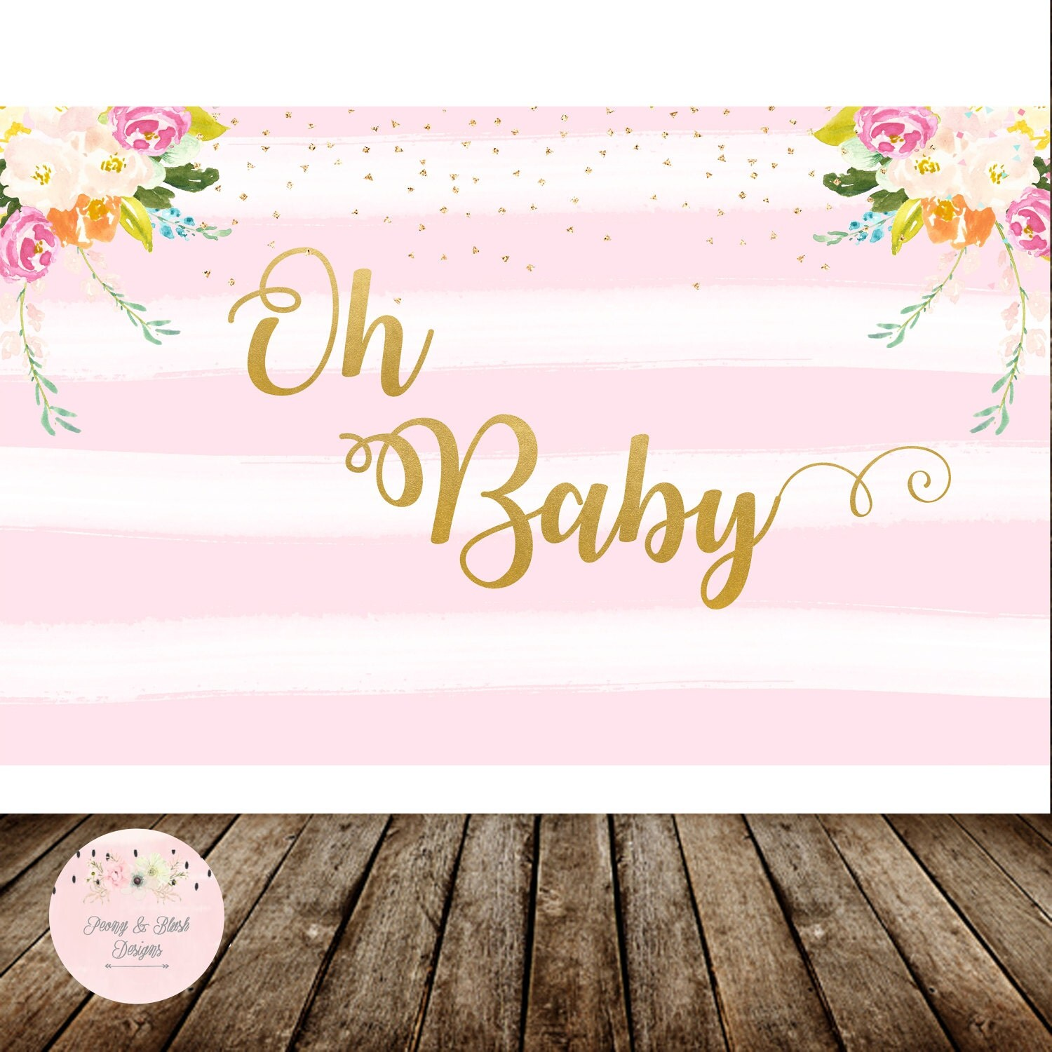 Oh baby banner | Etsy