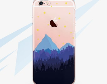 Mountains Case iPhone 7 Case Phone iPhone 7 Plus Case iPhone 6 Case iPhone 5S Case Clear iPhone 5 Case for Samsung S6 Case Phone Cover 0001