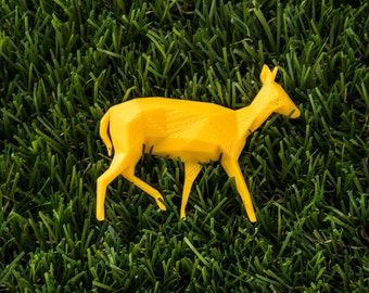 Doe Yellow - 3D printed Polygonal Brooch