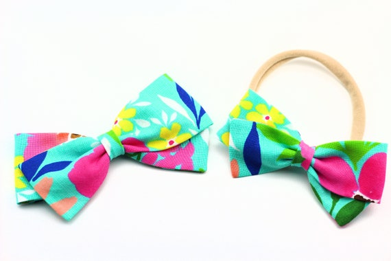 Baby Bow, Toddler bow, Baby Shower Gift, Aloha Bow, Fabric Bow
