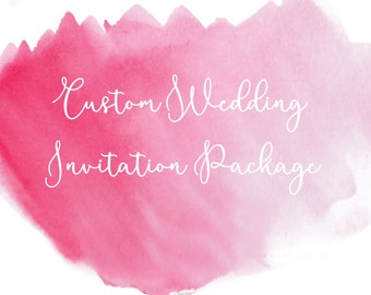 Custom Wedding Invitations, One of a Kind with Hand-Drawn Illustrations