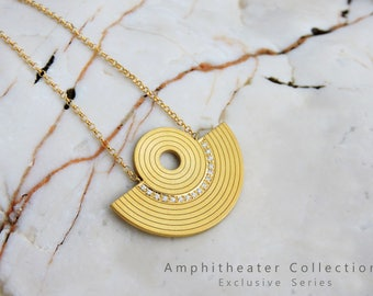 Tiny Amphitheater Necklace with zirgon