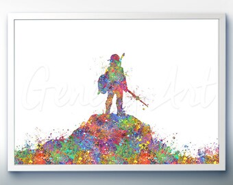 The Legend of Zelda Breath of the Wild Watercolor Art Poster Print -Watercolor Painting - Watercolor Art - Kids Decor- Nursery Decor