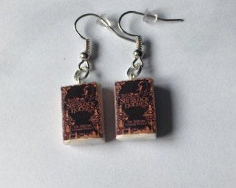 Sherlock Holmes mini book earrings