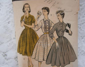 Advance Shirtwaist dress pattern 1957 sz 14