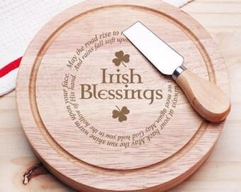 Irish Blessings Gourmet 5pc. Cheese Board Set - Holiday Gifts (JM6778824-CS913)