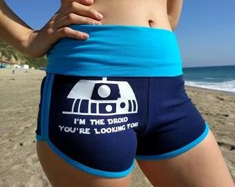 Star Wars Yoga Shorts, R2D2, Gym Shorts, Running Shorts, Star Wars, Sith Lord, Star Wars Gym