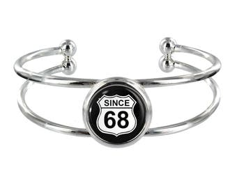 Since 68 Silver Plated Bangle in Organza Gift Bag