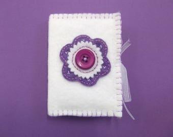 sewing needle book - felt needle case - felt sewing book - handmade needle book - needleholder - gift for sewer - present for nan