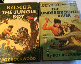 1926 Hardcover Edition of Bomba the Jungle Boy and 1953 Hardcover Edition of Bomba:  The Underground River