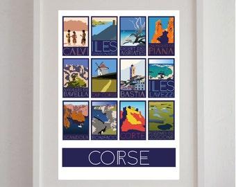 "Poster ""Corsican"" 50 x 70 cm - poster, displays vintage, retro poster"