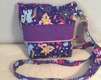My Little Ponk Cross Body Sling Messenger Bag
