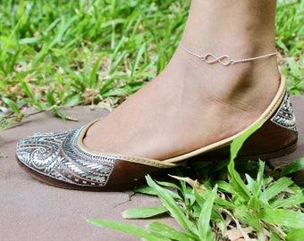 Silver Anklet, Turtle Anklet, Bohochic Anklet, Minimalist Silver Anklet, Simple Anklet, Silver Charm Anklet, Gypsy Anklet, (AS60)