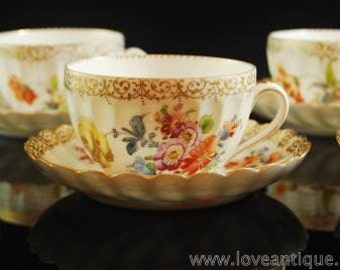 Dresden Adolph Hamann tea cup and saucer