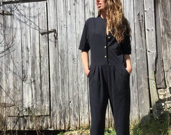 3(fits) 80's jumpsuit black