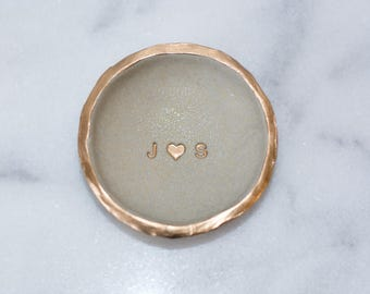 Custom Gold Glitter Ring Dish, Gold Glitter Jewelry Storage,  Custom Clean Modern Decor, Gold Glitter Custom Ring Bowl