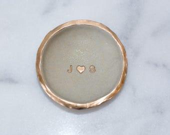 Custom Gold Glitter Ring Dish, Gold Glitter Jewelry Storage,  Custom Clean Modern Decor, Gold Glitter Custom Ring Bowl