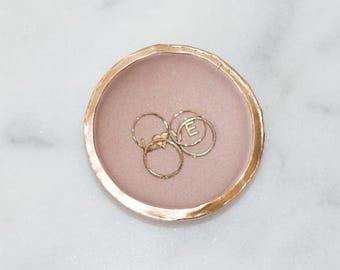 Rose Gold Glitter Ring Dish, Rose Gold Glitter Ring Bowl, Rose Gold Jewelry Storage, Rose Gold Glitter Custom Ring Bowl, Easter basket gift
