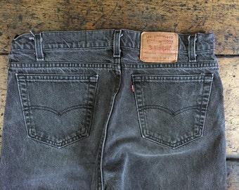 Vintage Levis 550 Black Denim Jeans Sz 34   Made in USA