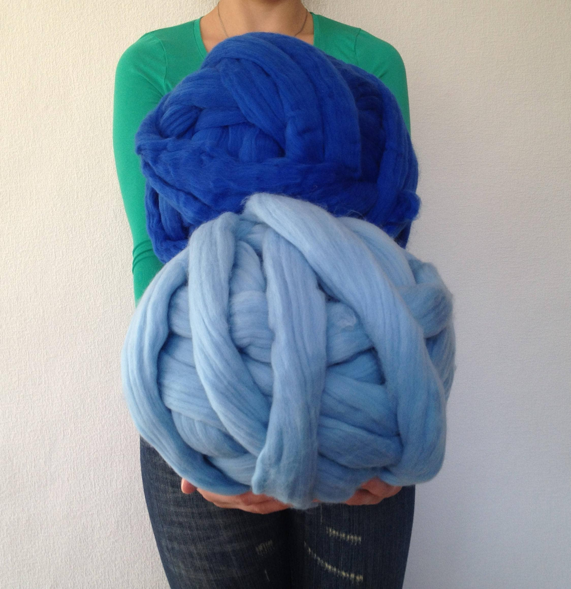 Arm Knitting Yarn Australia : Chunky wool yarn super bulky roving thick