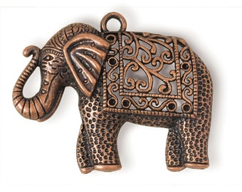 Copper Elephant Pendant (STEAM118)