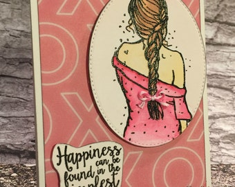 Handcrafted Greeting Card - Happiness (PAT-0017)