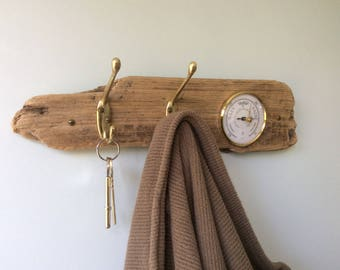 Driftwood Barometer and Coat Rack