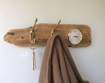 Driftwood Barometer and Coat Rack