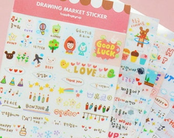 Cute Stickers / Kawaii Stickers / Diary Stickers / Korean Stickers / Planner Stickers / Scrapbook Stickers / Decoration Stickers / Stickers