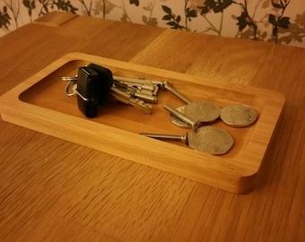 Bamboo Pocket tray, glasses tray or change tray.