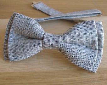 Grey Bow tie, Grey Bowtie, Light Grey Bow tie, Men's Grey Bow tiе, Pre-tied Grey Bow tie, Gray Bowtie, Gray Bow tie