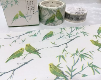parrot style wide washi tape 7M x 3cm tiger parrot pretty bird colorful pet wide masking tape watercolor big wild bird sticker tape decor