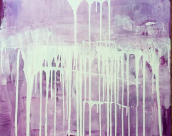 "Acrylic on canvas ""Purple Cream"" 80 x 60 cm"