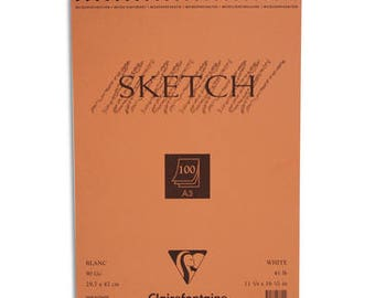 Clairefontaine Sketch wirobound pad 90g 100 sheets A3