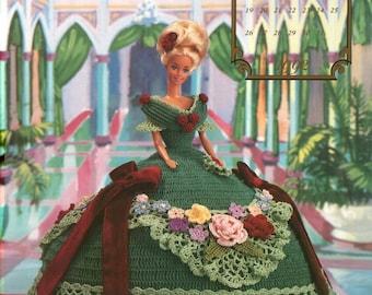 62.Barbie doll dress, crochet pattern in pdf