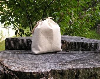 Snack Bag Medium - Vegan Food Bags - Raw Food - Fabric Food Bags - Cookie Bags -  Nut Bags - Eco Friendly Food Bags - Biodegradable