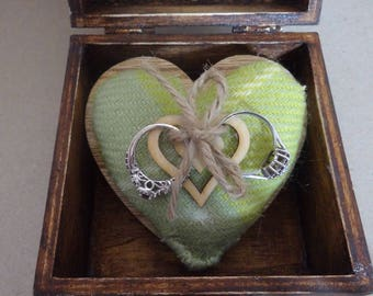 Quirky handmade walnut  ring box