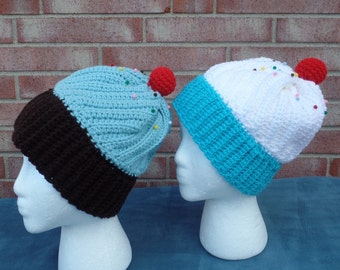 Cupcake Winter Hat, Crochet