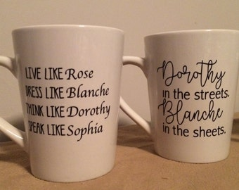 GOLDEN GIRLS inspired MUGS - Two different styles to choose from