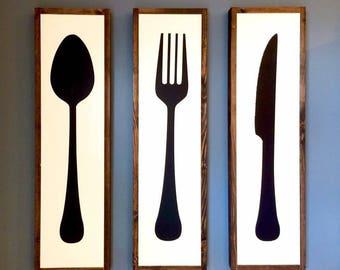 Kitchen Utensil Sign Set