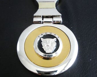 Jaguar 18K Gold Keychain with Silver Trim-Free Engraving