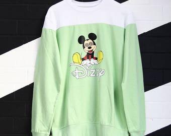 suéter de ondulado disney streetwear mareado hip-hop estilo años 90 moda mickey mouse grande