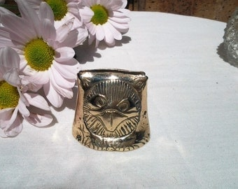 Vintage Owl Solid Brass Place Card Holder - Vintage - Rare -20% off