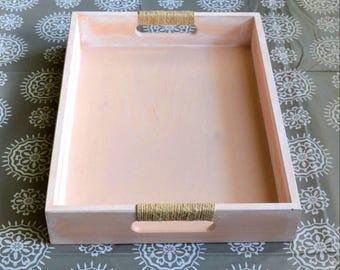 Wooden Tray- Stained Tray-Breakfast Tray-Serving Tray-Decorative tray-Ottoman Tray-Rustic Wooden Tray-Distressed Wood Tray-Shabby Chic Tray