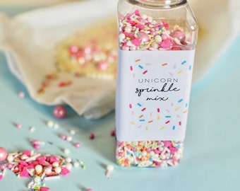 Unicorn sprinkles, cake decorating, baker gifts, gifts for girls, fun gifts, for friends, unicorn, colourful, sweets, gifts for sister, pink