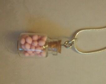 Sweet millions polymer clay mini mason jar necklace