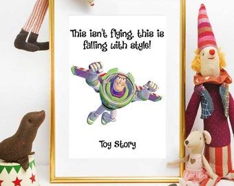 Toy Story Print, Disney Quotes Printable, Toy Story Buzz, Toy Story Wall Art Decor, Kids Decoration, Nursery Decor